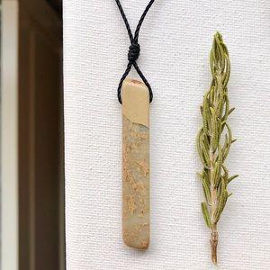 African Opal (Long Stick) Pendant Necklace/Choker